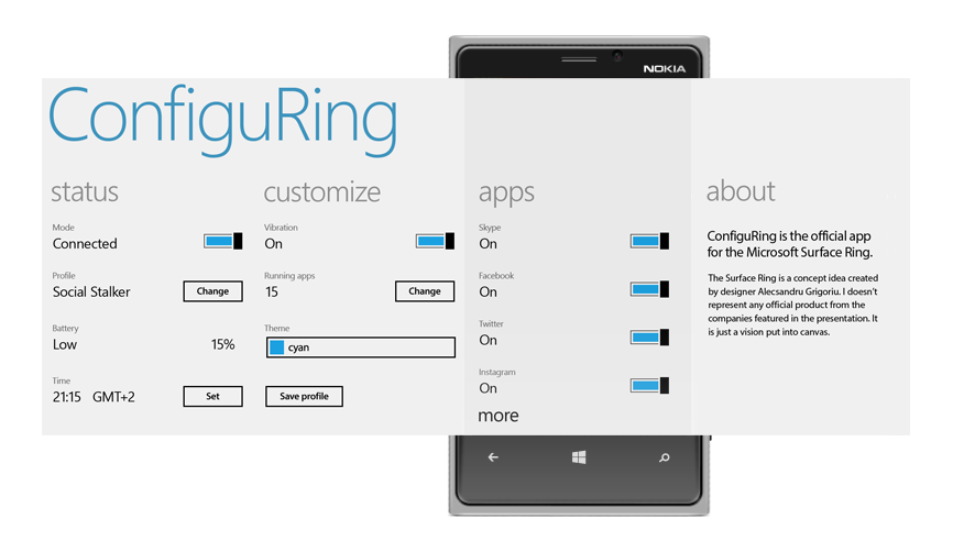 ConfiguRing: the WP app built for customizing your Surface Ring