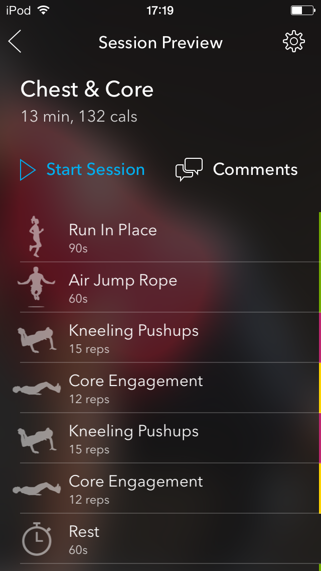 Each session contains a series of well crafted exercises.