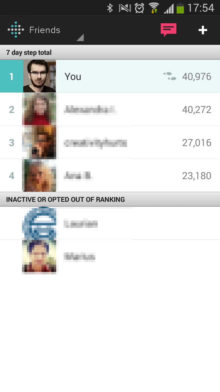 The Friends List and Leaderboard on Android devices.
