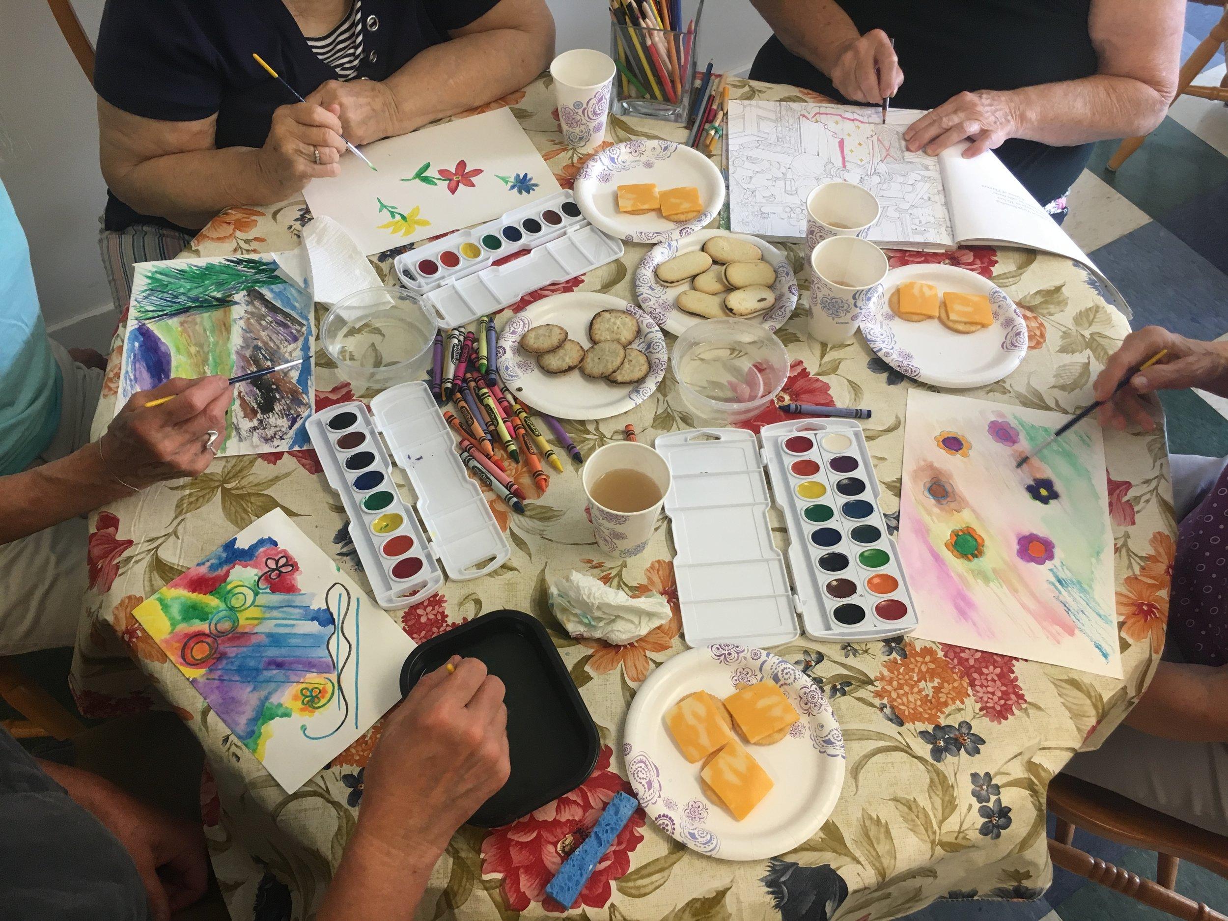 Lamoille Housing Partnership offers art workshops to senior housing residents