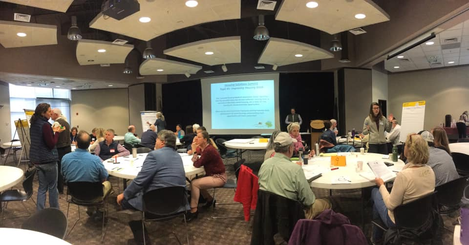 Community members gather to discuss solutions to local housing issues