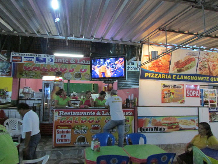 Peyton Manning on TV in Manacapuru, Brazil