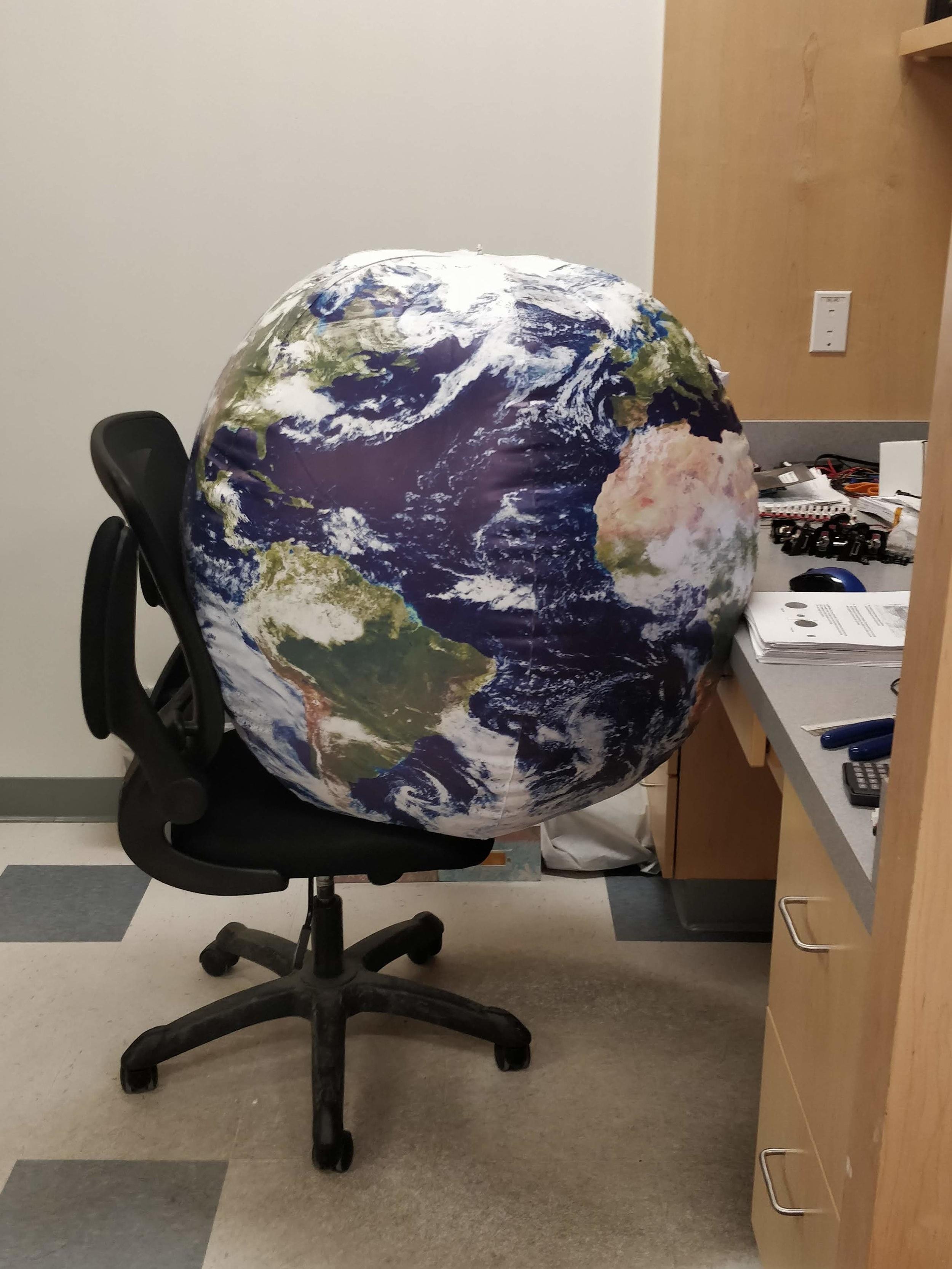 Mr. Earth working hard
