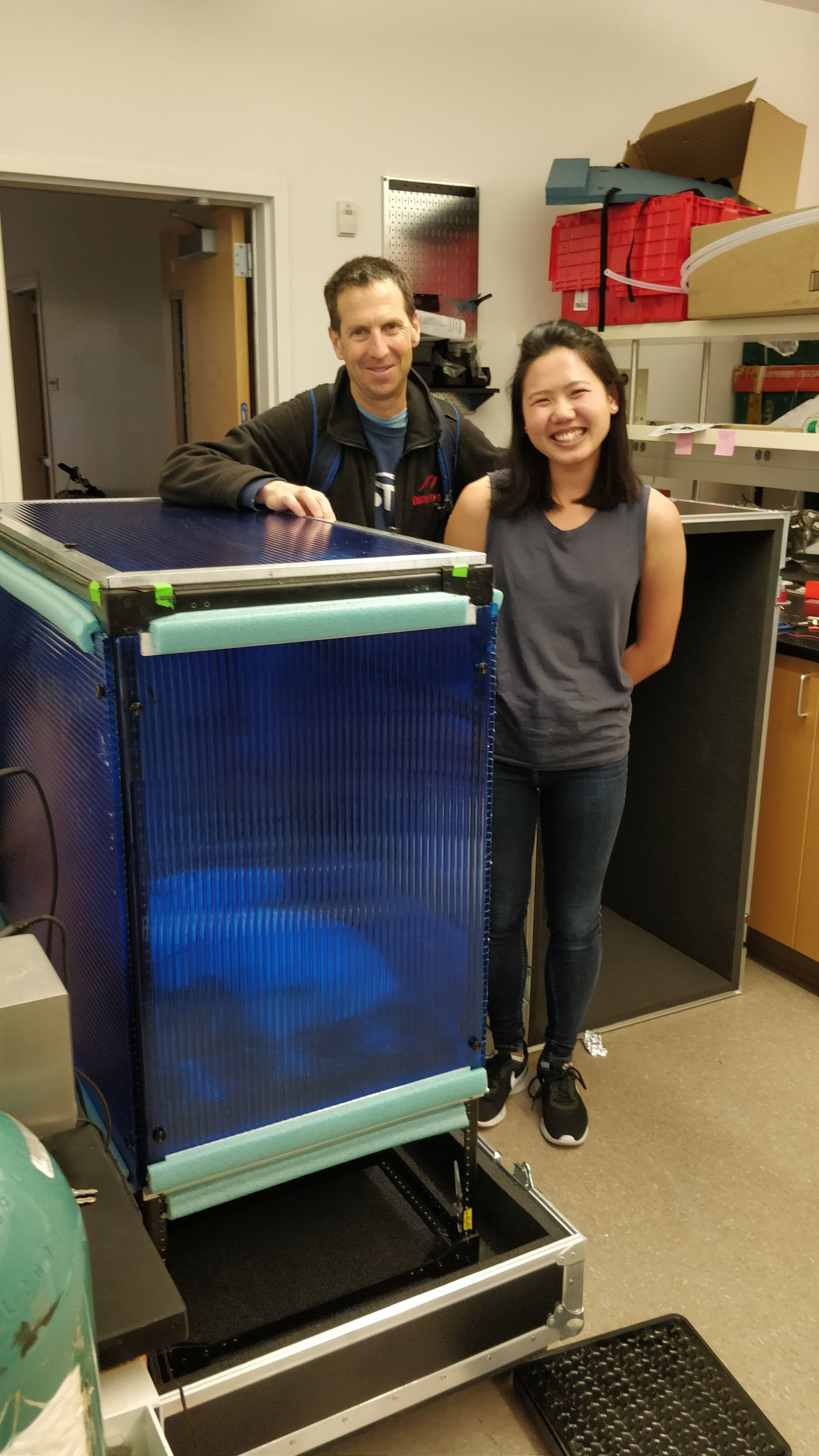 We're so happy because we finished building the whole air sampling system