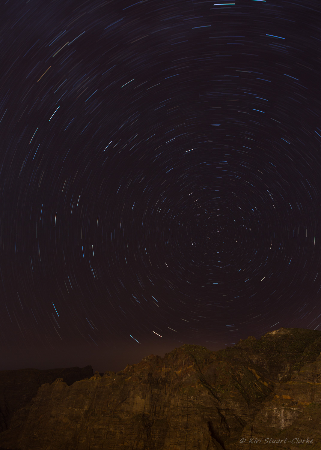 Taken over 1236 seconds at f4.0 and ISO 100