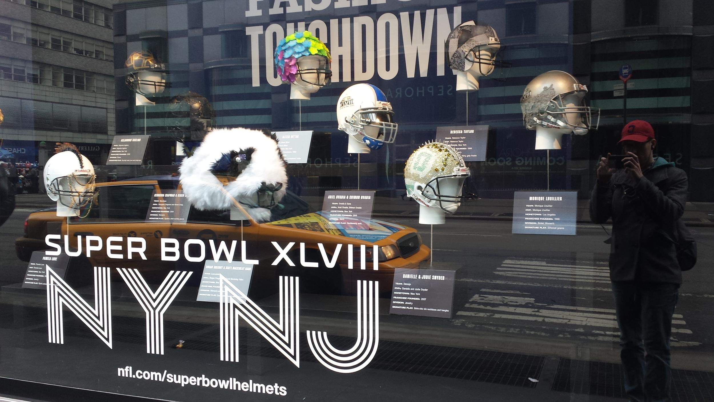 Bloomingdale's Super Bowl display