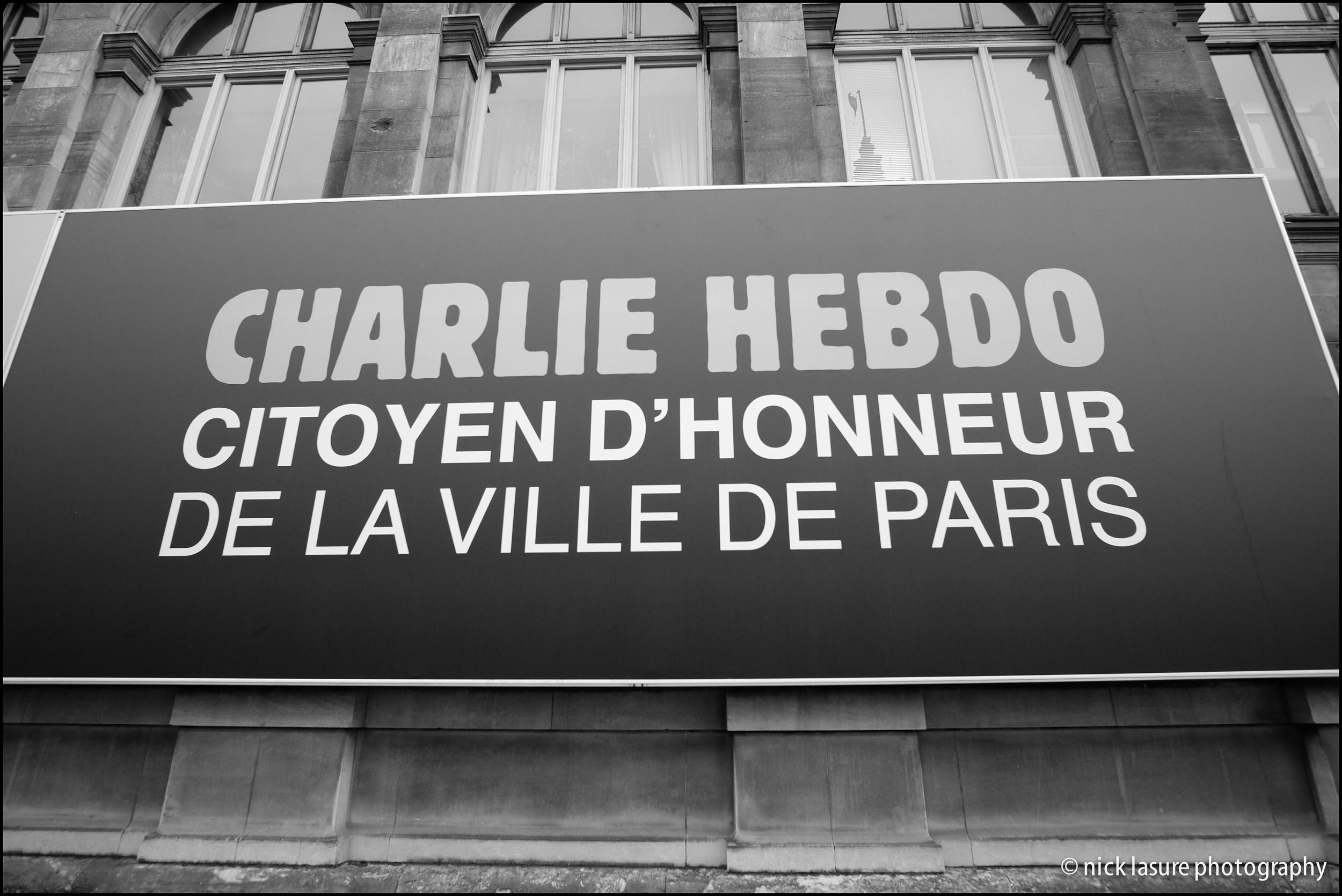 Charlie Hebdo | Fuji XT-1, Rokinon 12mm