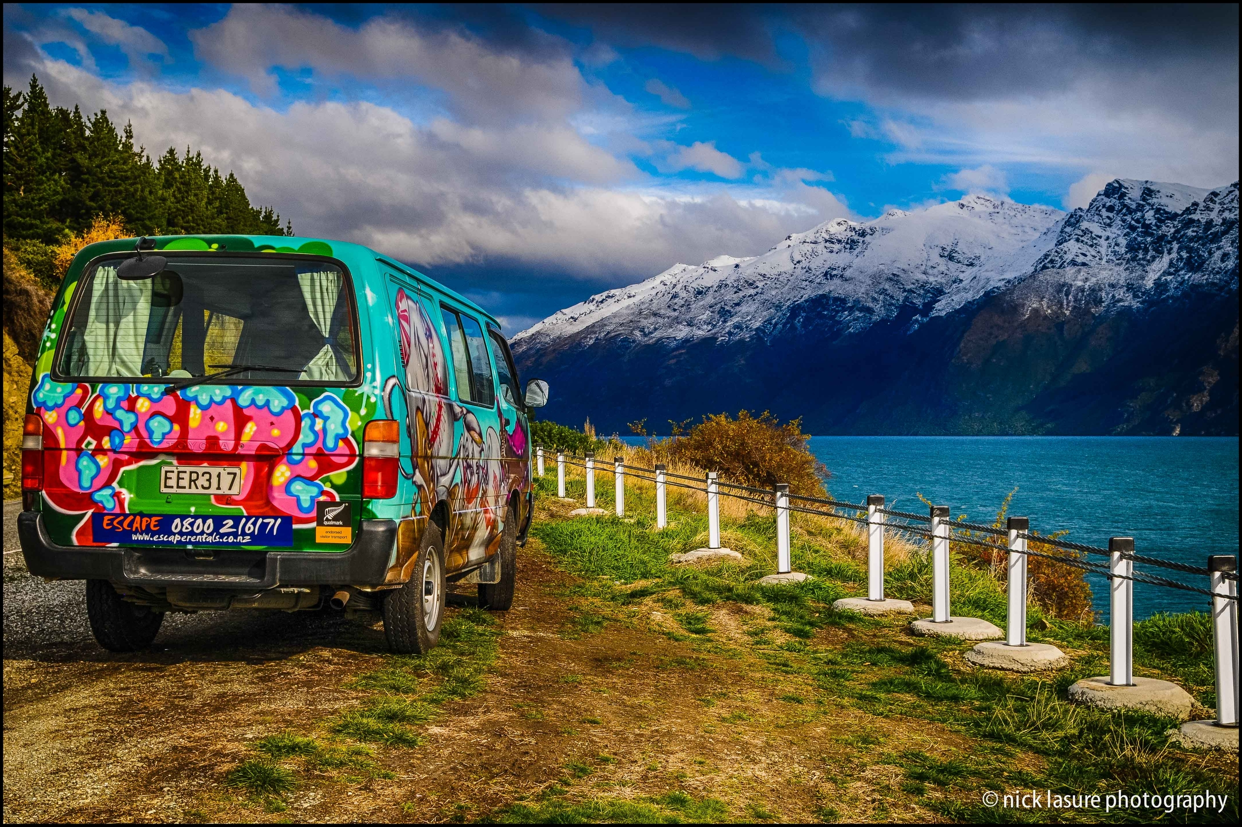 Our camper van otherwise known as 'Rehab' in Queenstown, New Zealand // Nikon D300