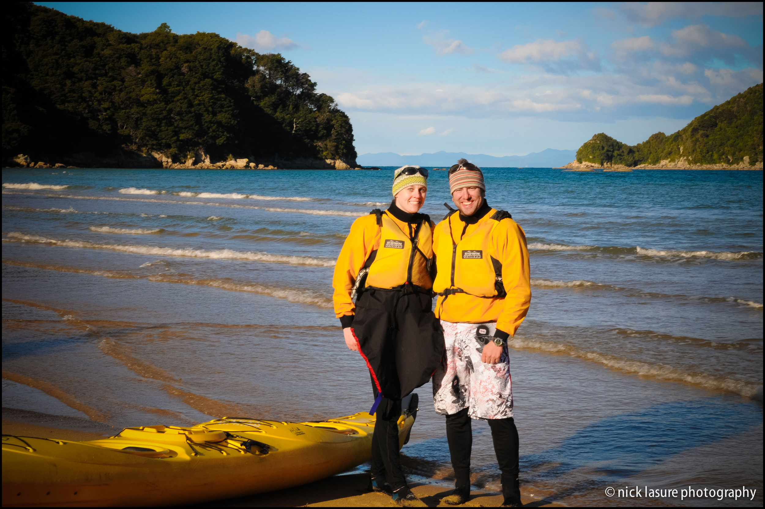 Yours truly and the better half kayaking in New Zealand's Abel Tasman National Park // Nikon D300