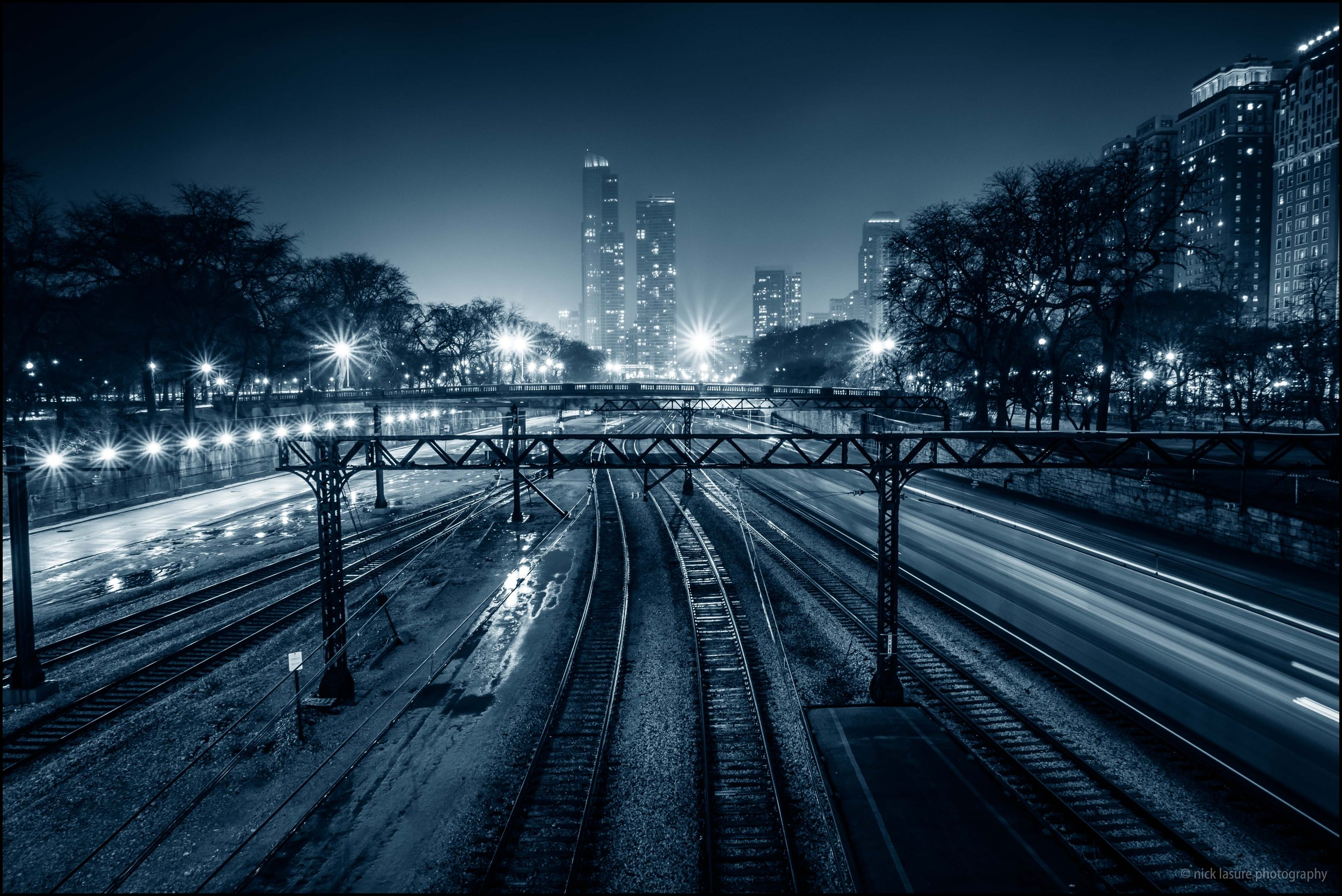 Chicago at night. One of the few favorite images that I captured with the LX10, for those that like natural star bursts f/8 worked perfect in this case.