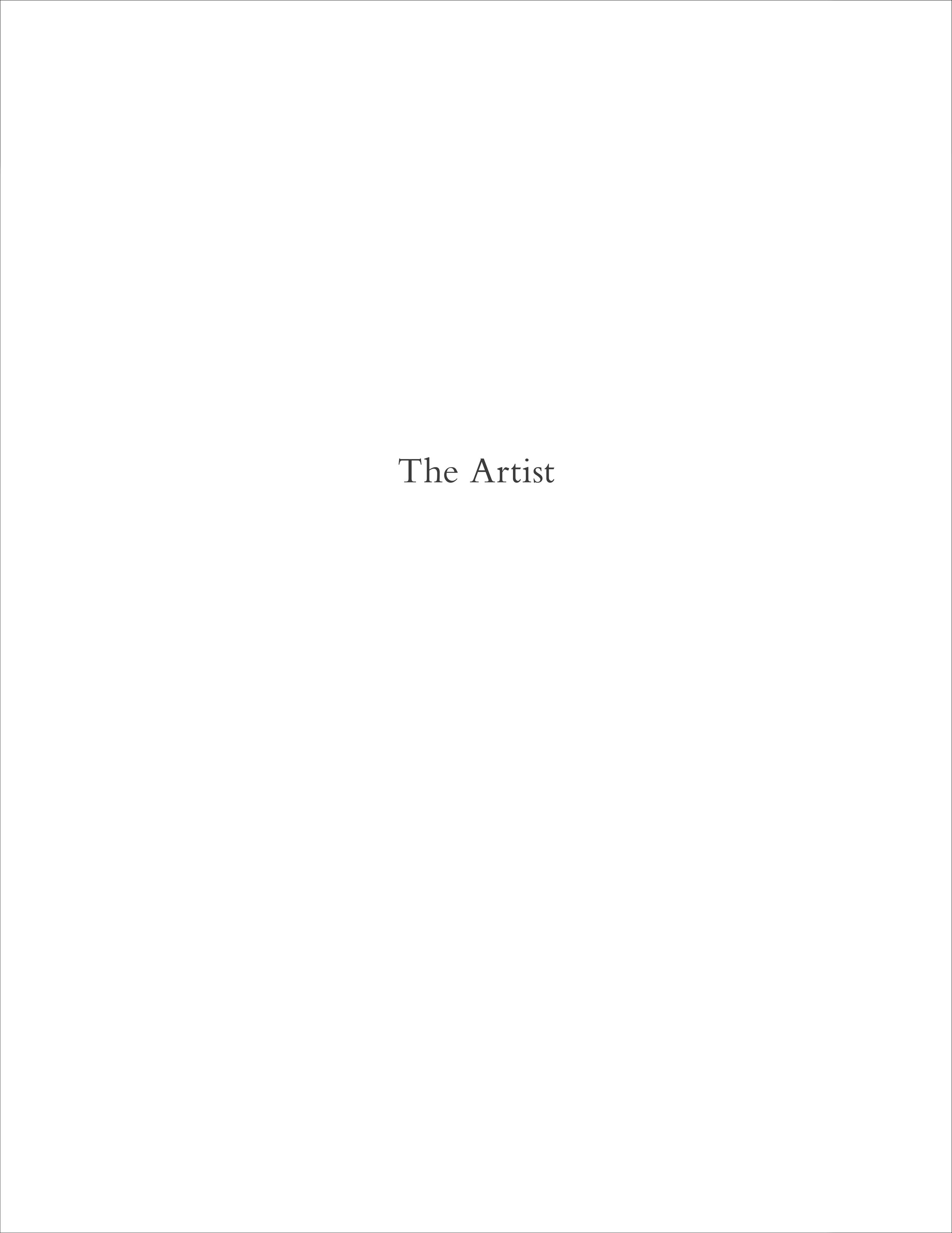 the artist, title page.jpg