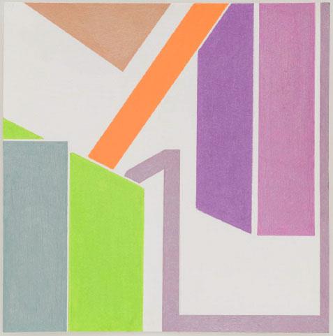 S/ título | 2013 | lápis de cor e caneta metalizada | 20 x 20 cm