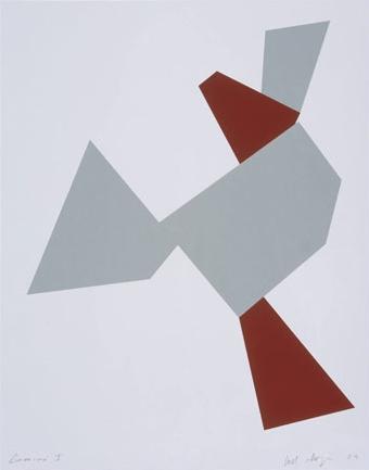 Boat, Bird, Mother and Child (a) | 2009 | 3 color screenprint with collage | 84x66 cm | Edição de 38