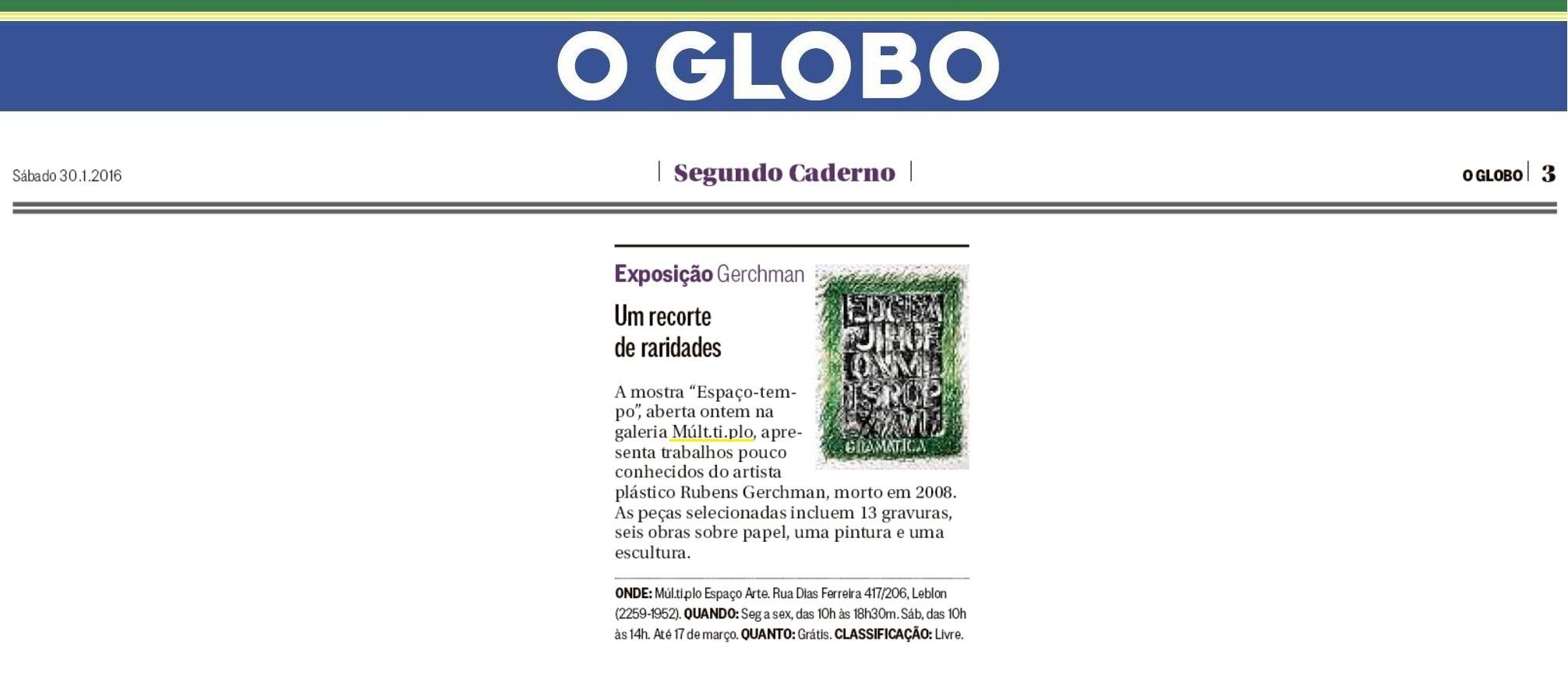 MUL.TI.PLO ESPAÇO ARTE NO JORNAL O GLOBO - SEGUNDO CADERNO 30-01.jpg