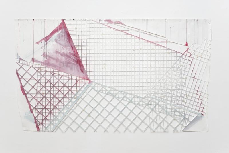 S/ Título | 2012 | Guache, esmalte, acrílica e tinta sobre papel | 274 x 150 cm