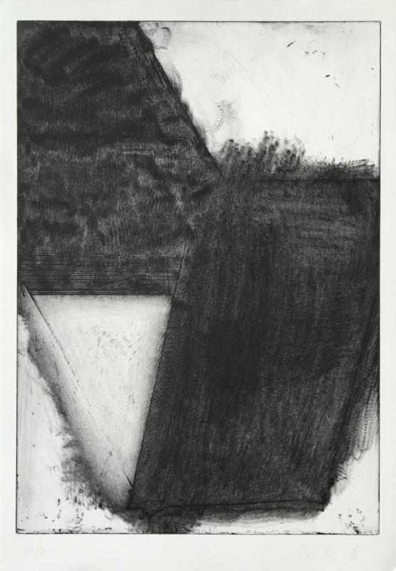 S/ Título | 2013 | Água forte, água tinta, maneira negra e colagem | Ed. 24 | 50 x 34,5 cm