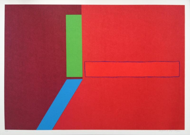 S/ título | 2013 | Serigrafia com desenho em bastão a óleo | Edição 30 | 50 x 70 cm