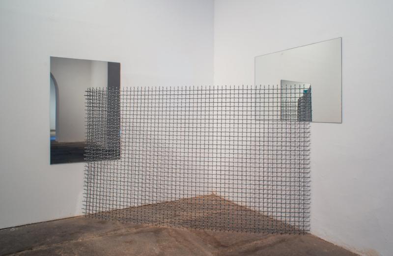 S/ Título | 2015 | Ferro galvanizado e espelho | 150x172x172 cm