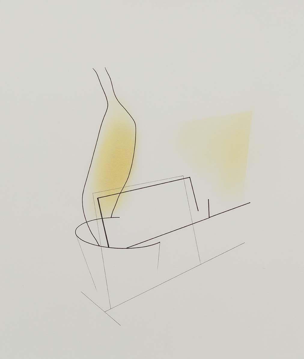 Copy of Sem título | 2013 | desenho | nanquim e pastel sobre papel | 35 x 30,5 cm (sem moldura) | 50,5 x 45 x 5 cm (com moldura)