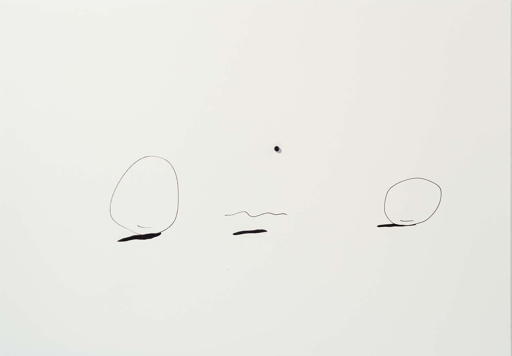 Copy of Sem título | 2015 | desenho | nanquim e resina sobre papel| 29,5 x 42 x 0,6 cm (sem moldura) | 45 x 57 x 5,5 cm (com moldura)