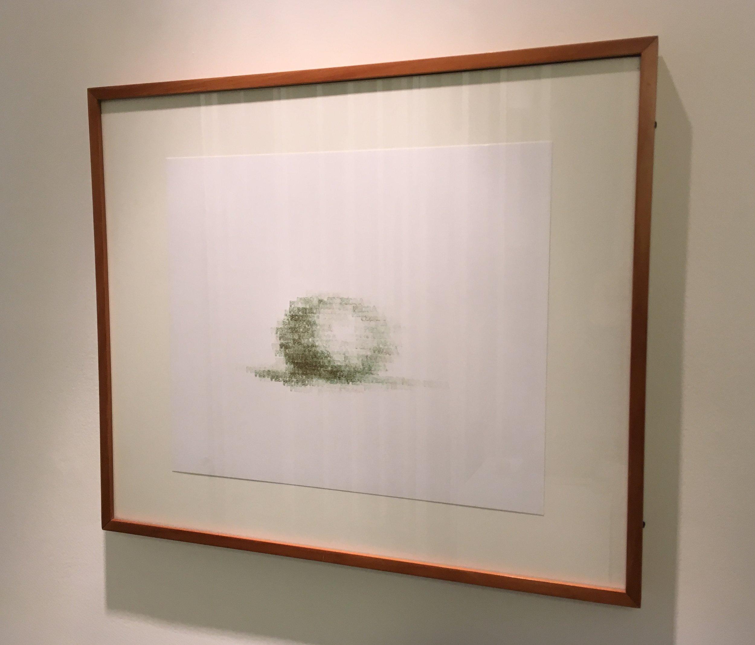 Copy of Pedra | 1998 | desenho | tinta tipográfica/carimbo sobre papel | 29 x 35 (sem moldura)| 43 x 51 (com moldura)