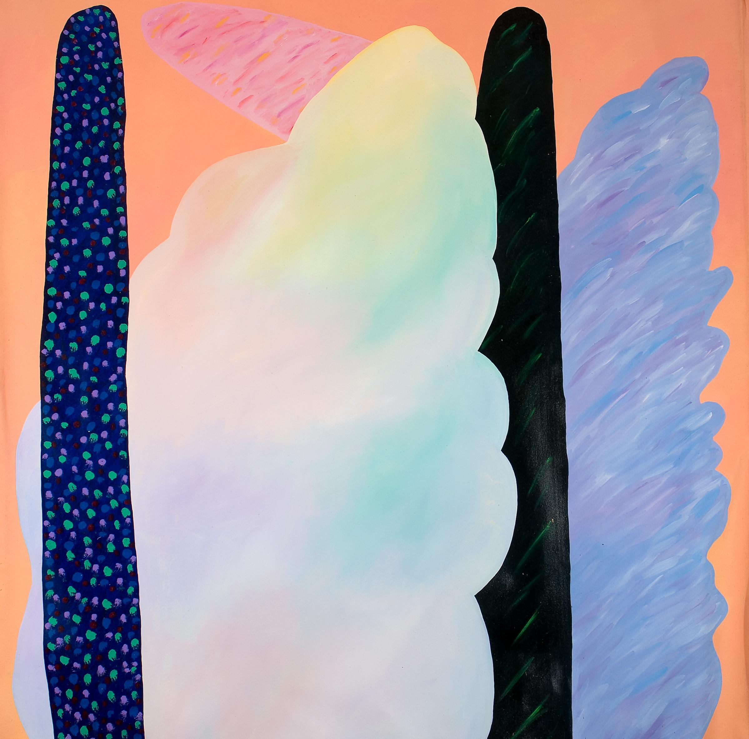 Paisagens imaginárias I  | 1983 | liquitex sobre tela| 170 x 170 cm
