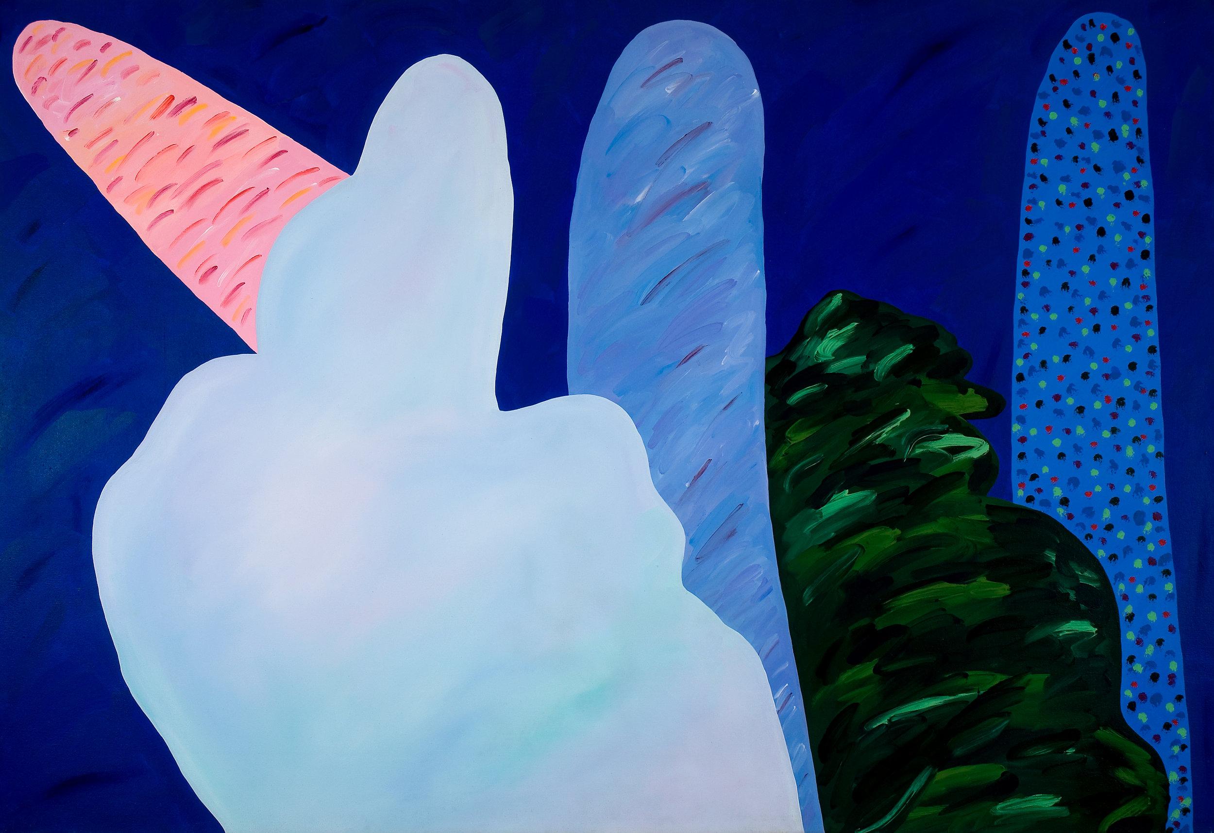 Paisagens imaginárias I  | 1983 | liquitex sobre tela| 130 x 190 cm