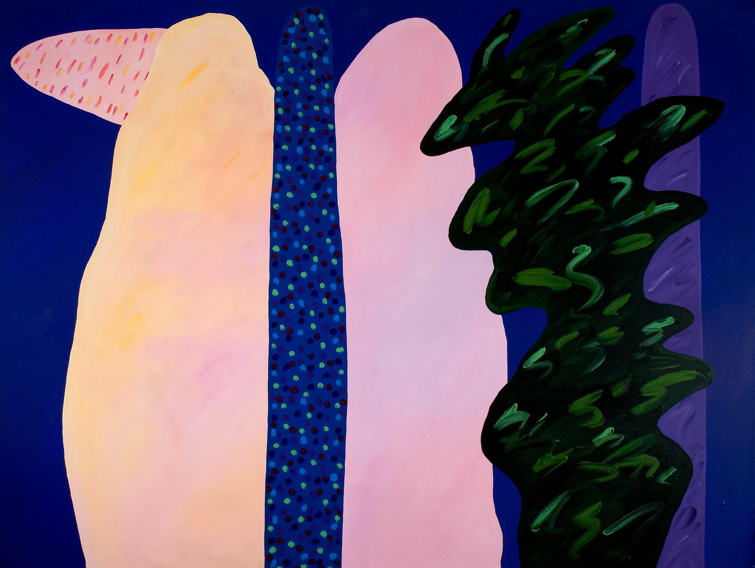 Paisagens imaginárias I  | 1984 | liquitex sobre tela| 150 x 200 cm