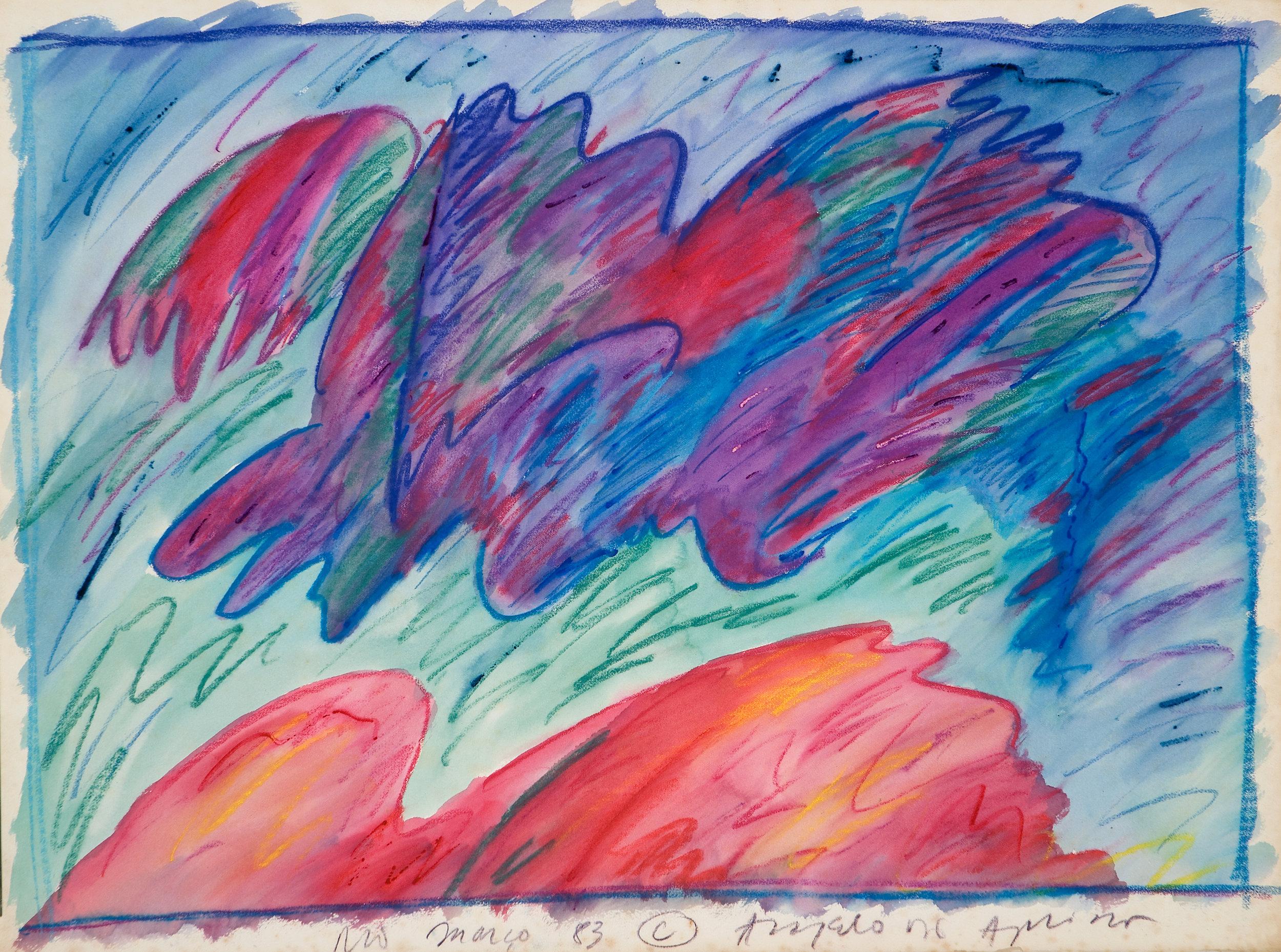 Sem título | 1983 | técnica mista  sobre papel | 57,5 x 77 cm cada