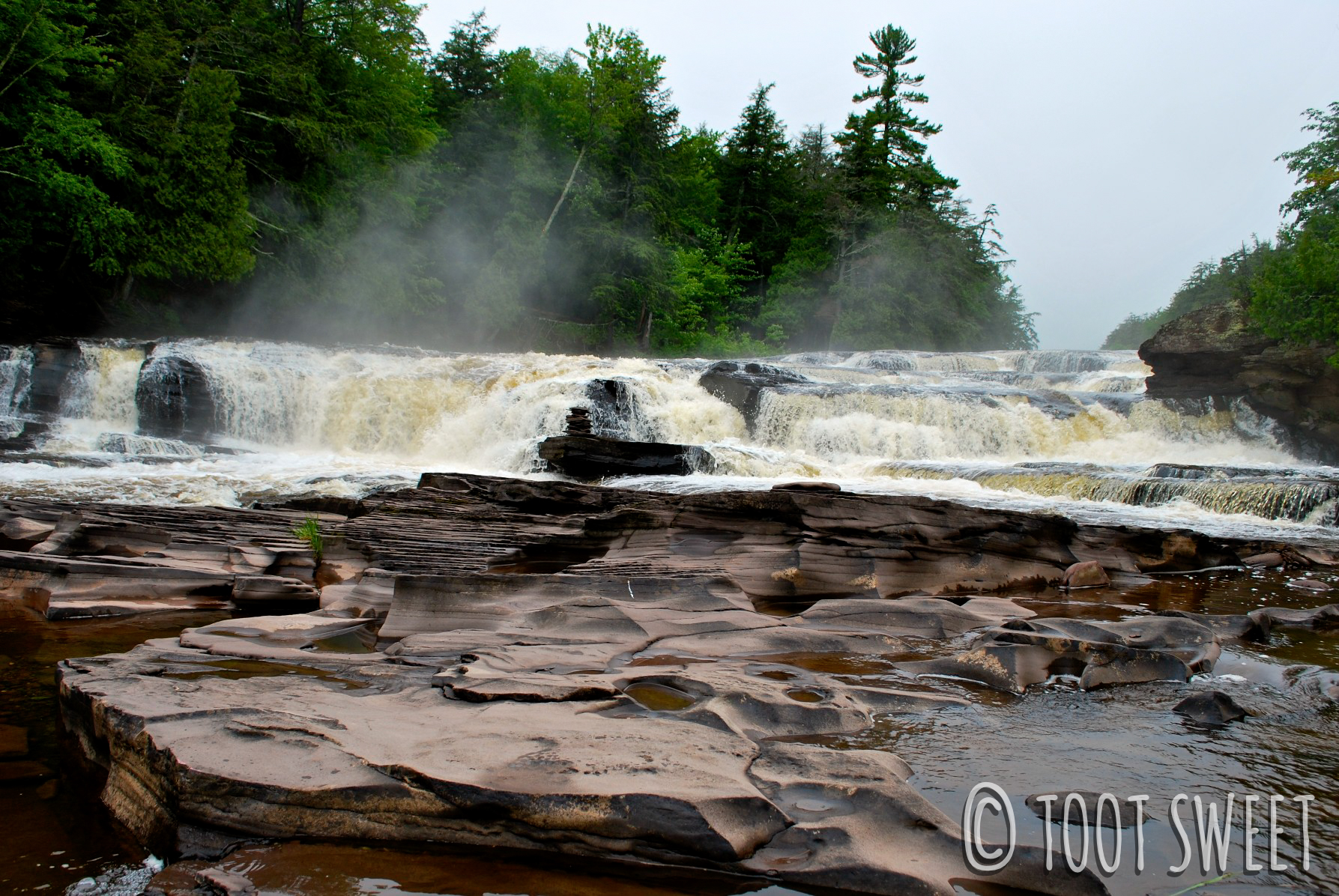 The Presque Isle River, from my last visit to Porcupine Mountains!