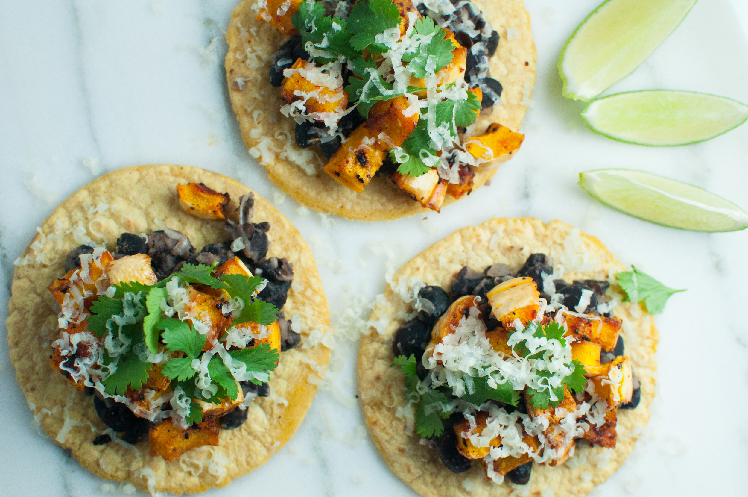 Black Bean and Squash Tacos with Lime Recipe