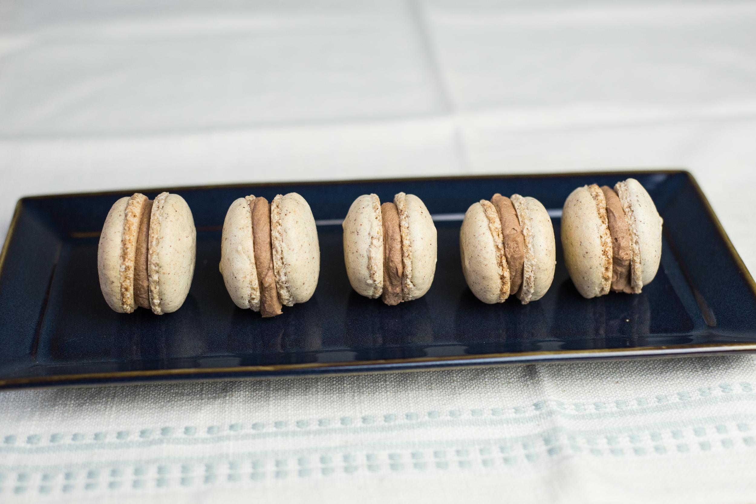 macarons, chocolate hazelnut, dessert, recipe