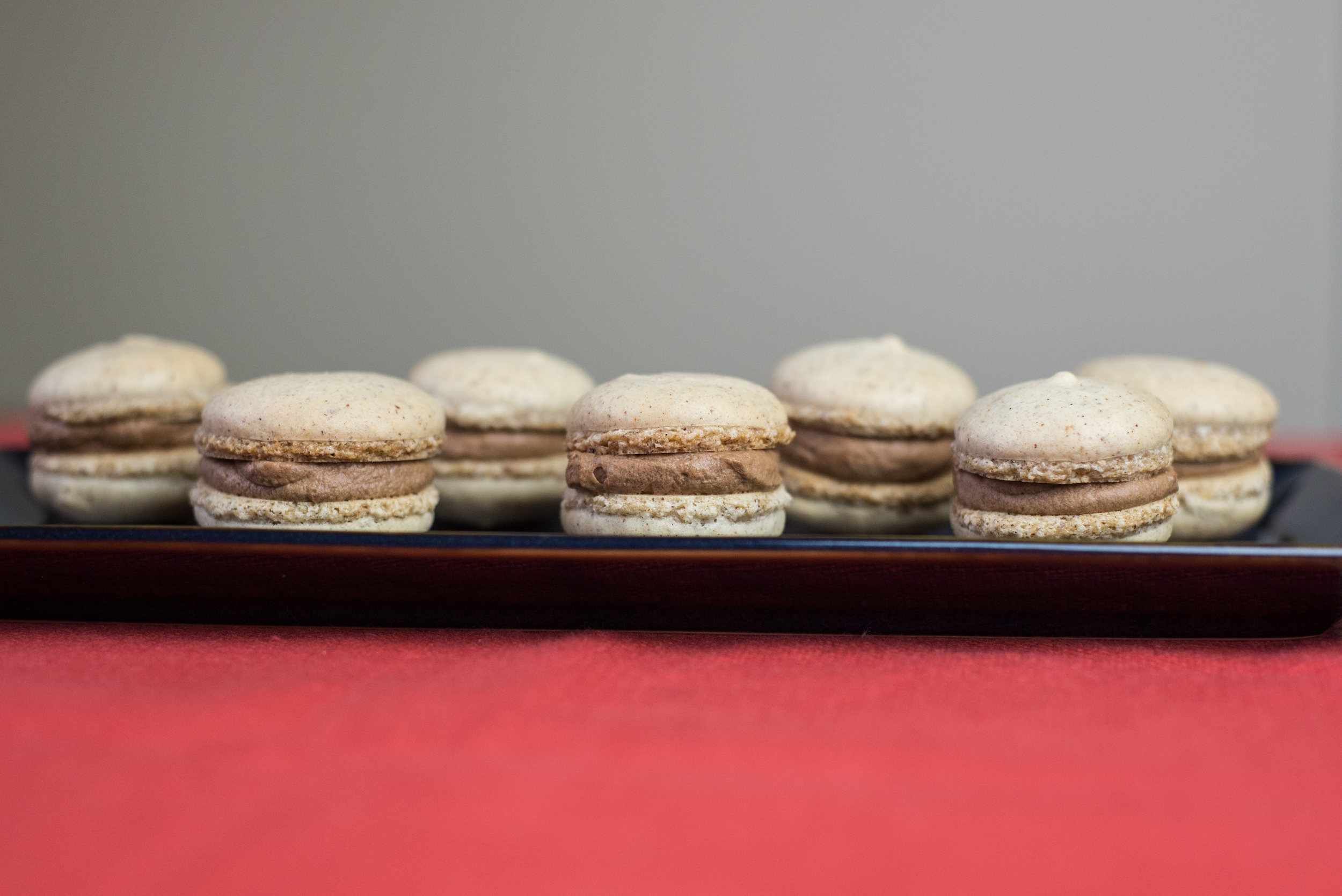 macaron, chocolate hazelnut, french, classic, dessert, recipe