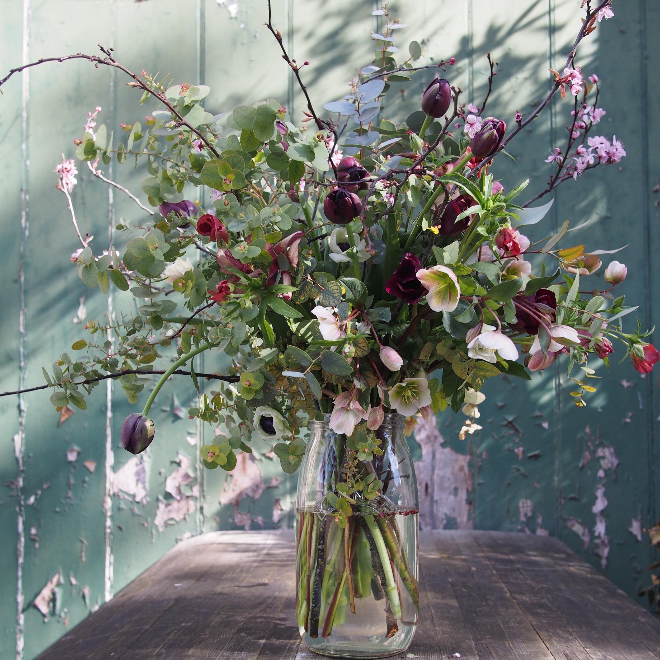 Kilner Jar of Seasonal Flowers