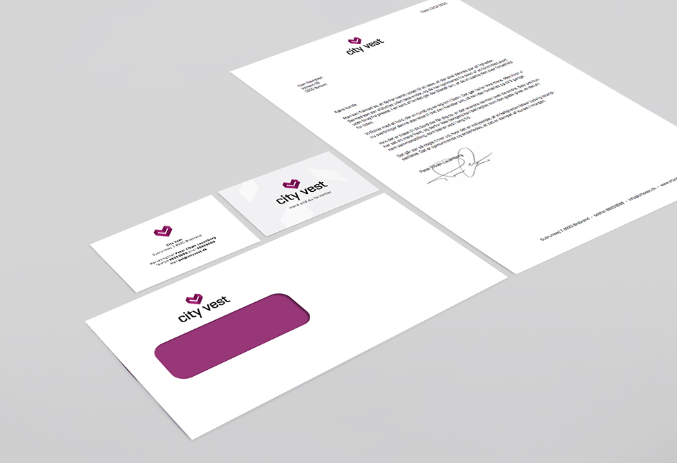 Updated stationery to match the new brand and color scheme.