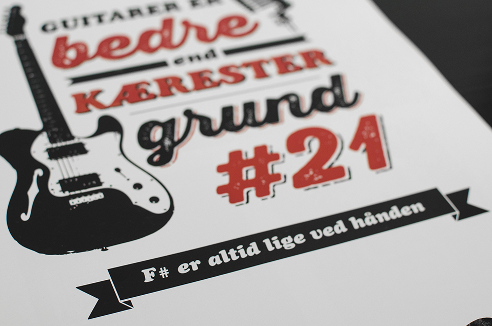 """Reason #21 - """"F# is always right by your hand""""     (In Danish, F# is pronounced like a provocativeword for genitalia, """"Fis"""")"""
