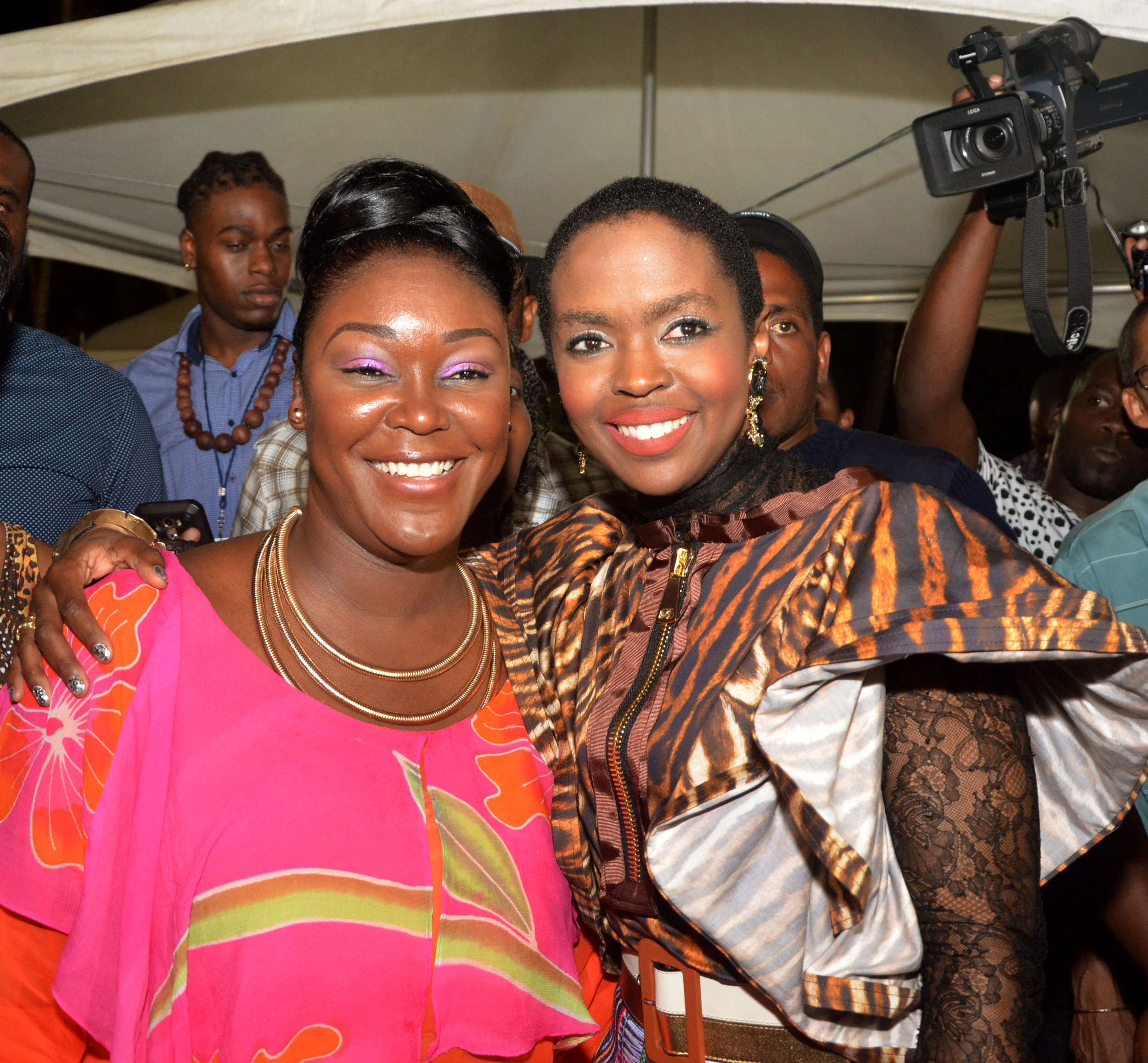 SEC.TRACEY CELESTINE AND MS LAURYN HILL1.jpg