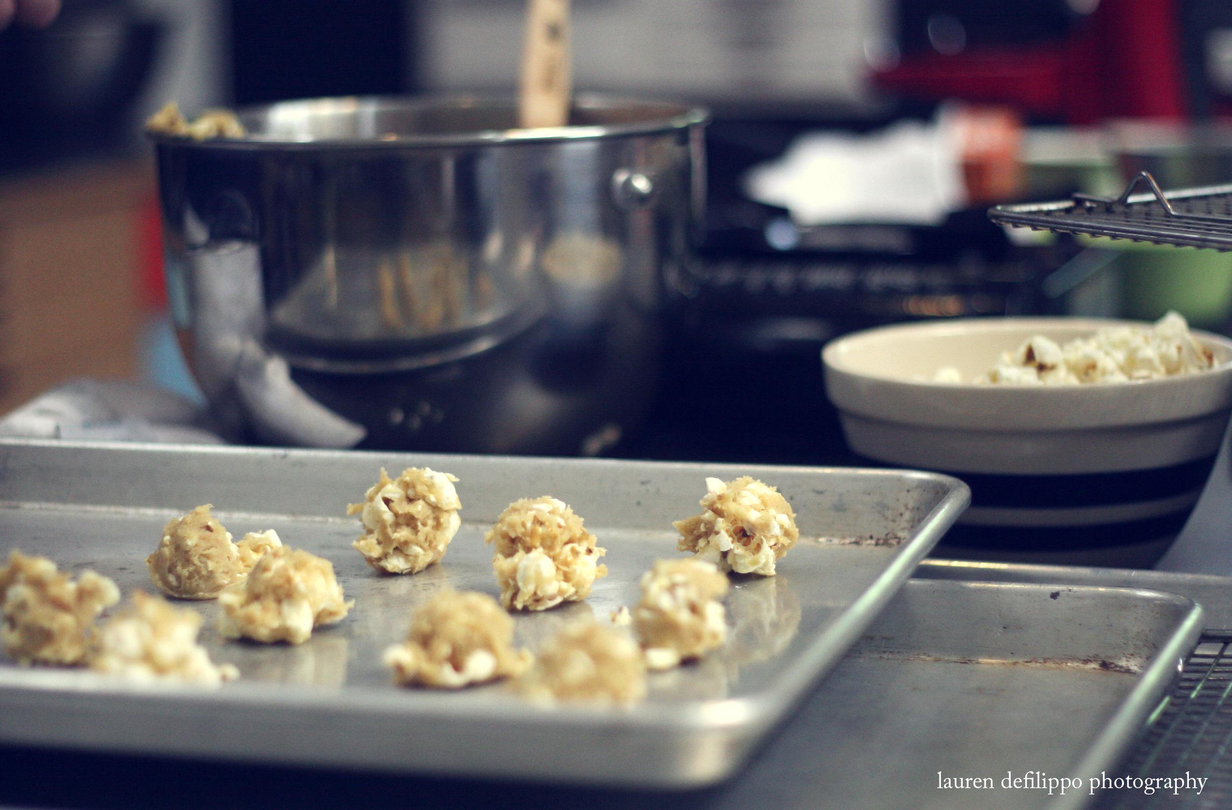"Deb Perelman's ""popcorn cookies"", ready for baking."