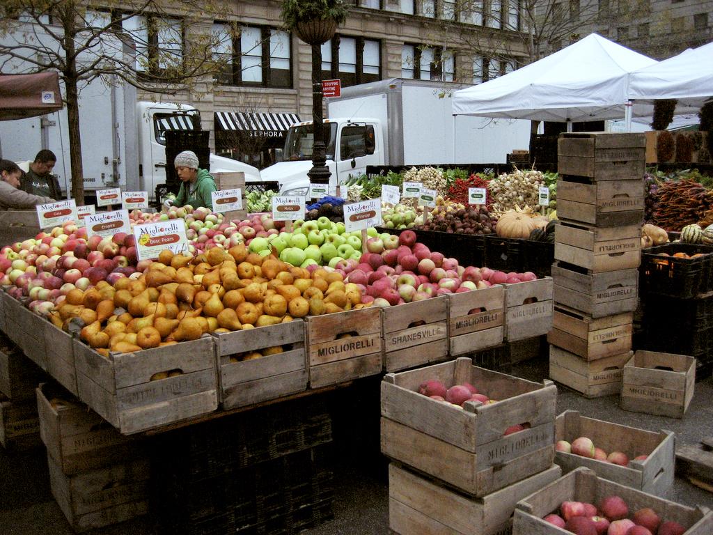 Union Square Greenmarket. Photo Credit: P Romaine
