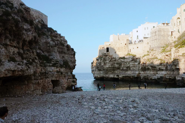 Cliffside beach — Polignano a Mare