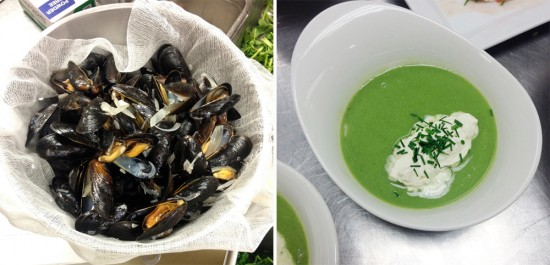 "Reserving the liquor of steamed mussels // Daniel Boulud's famed ""Billi Bi Cressonière"""