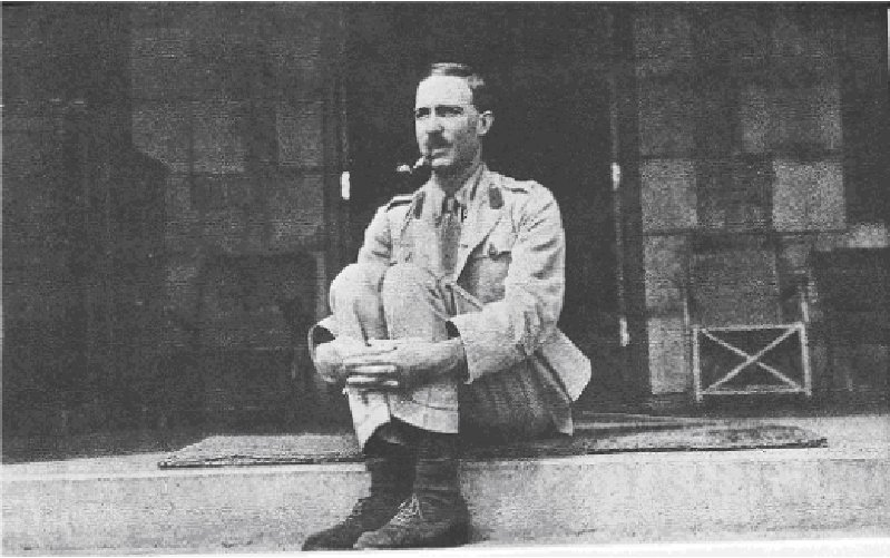Colonel Richard Meinertzhagen, certainly no shrinking violet. But what a mustache! From  here .