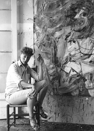 Elaine de Kooning, 1950s. Detail from a portrait of the de Koonings by Rudy Burckhardt. In the  permanent collection  at the Guild Hall.