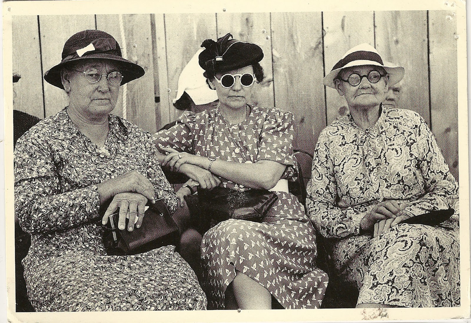 Vintage photo with attitude (and hats) from the wonderful  Wildfell Hall .