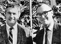 Professors Timothy Leary and Richard Alpert (Ram Dass), 1960s. From  Harvard Psych Dept. website .