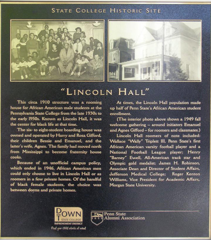 Lincoln Hall Historical Marker - click to see larger
