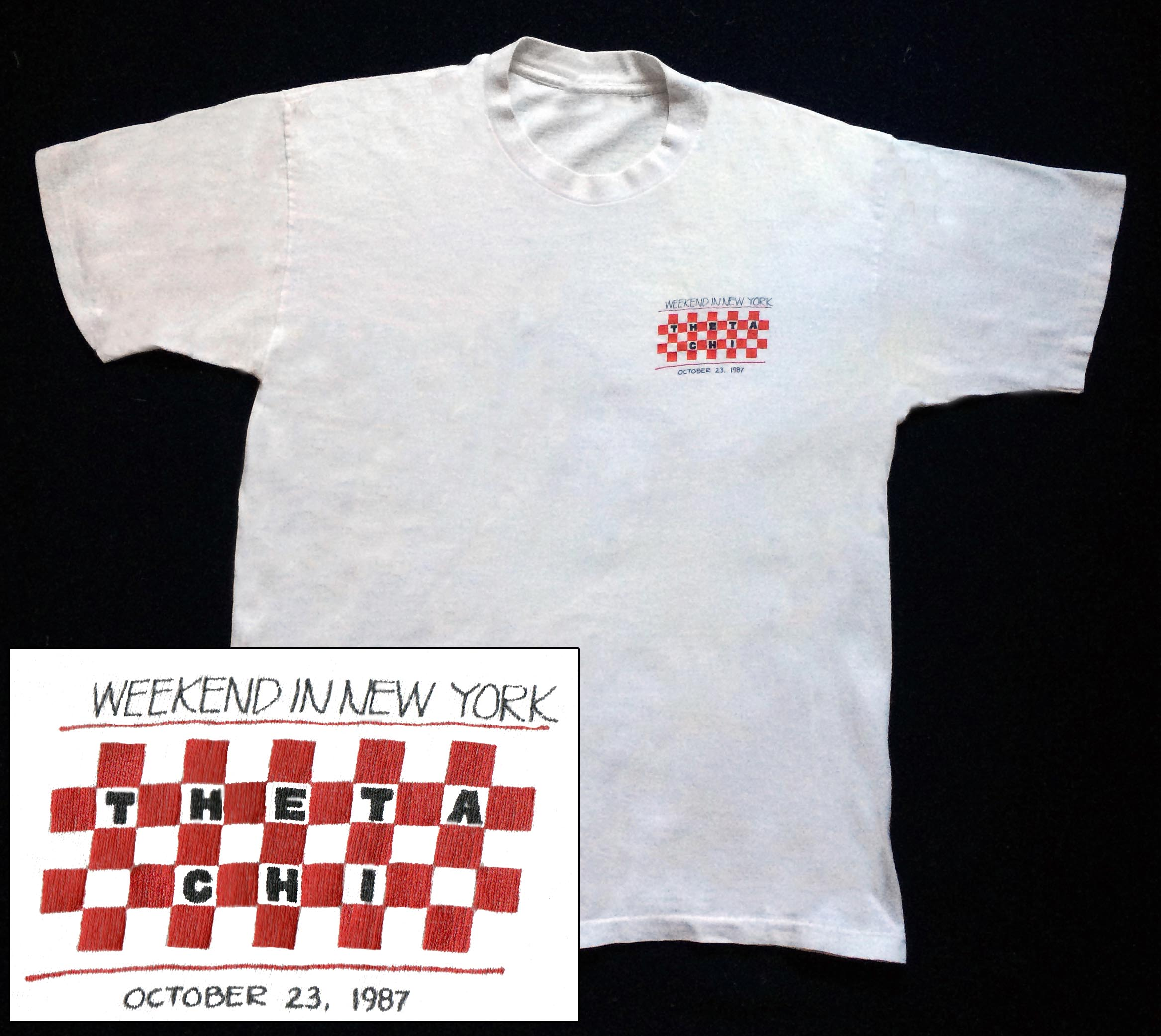 Weekend in New York Party T-Shirt (Front) - Oct. 23, 1987