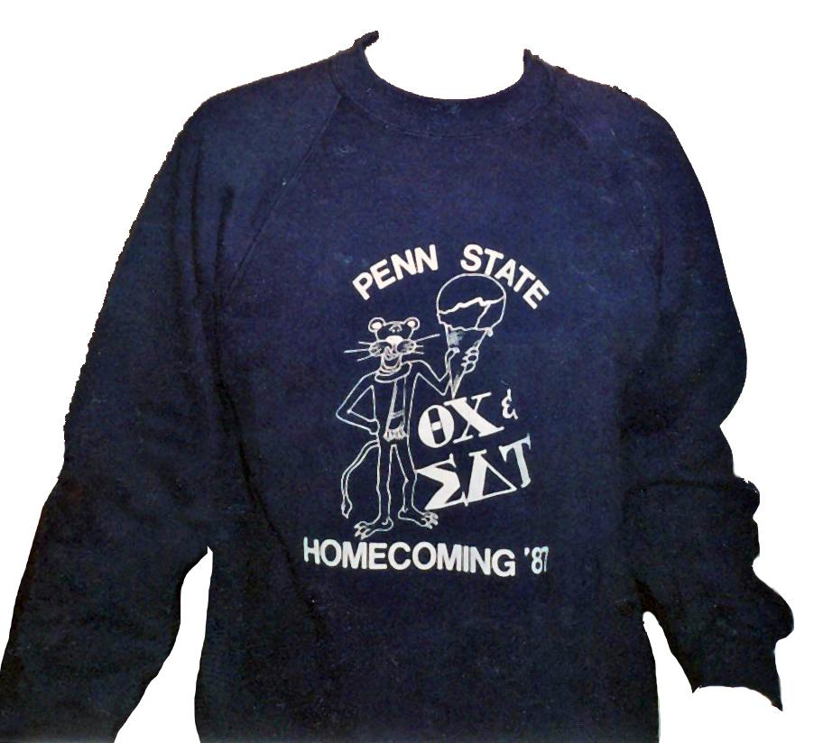 1987 Homecoming shirt - Theta Chi and Sigma Delta Tau
