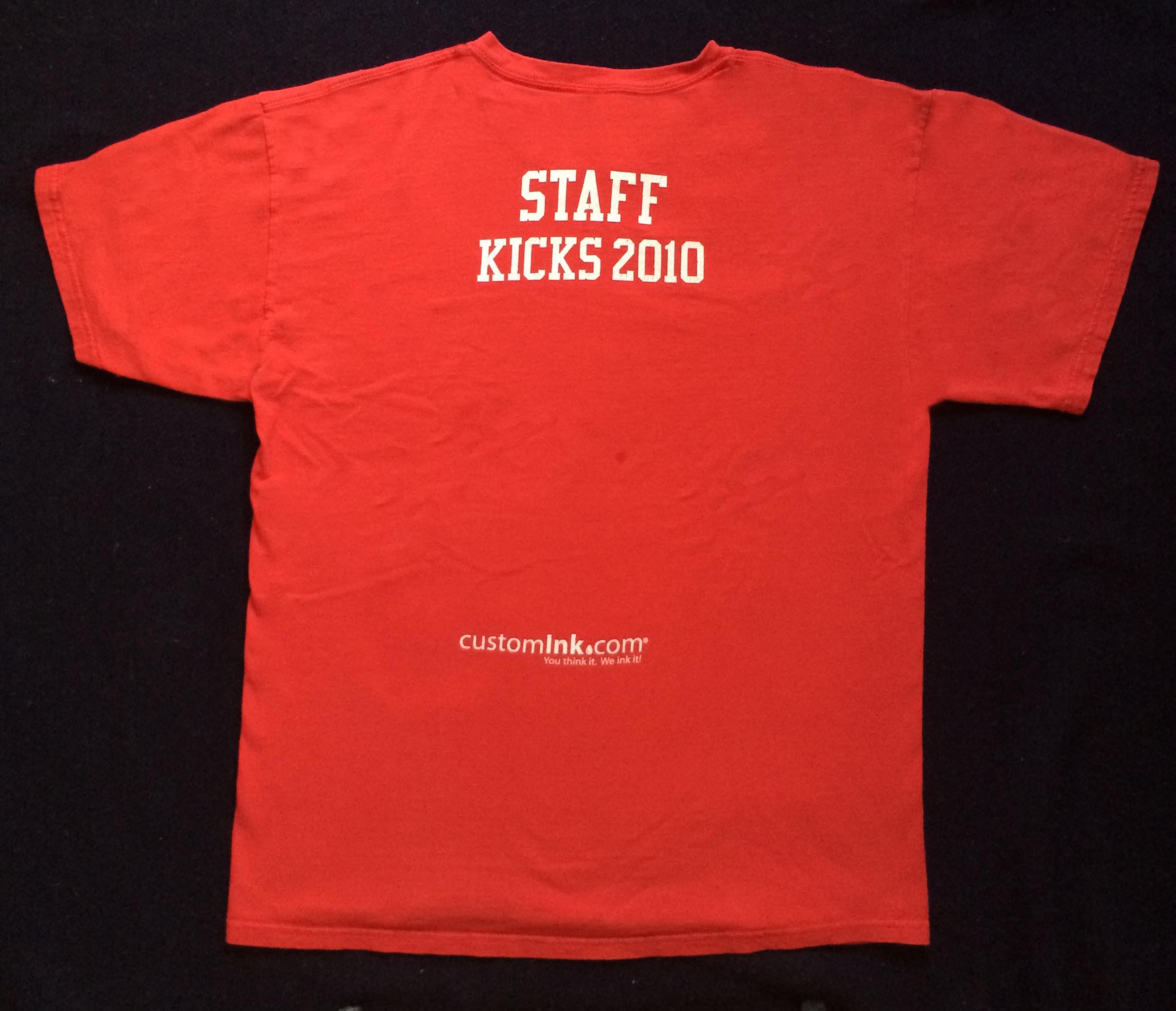 2010 K.I.C.K.S. T-Shirt (Back) - Oct. 3, 2010