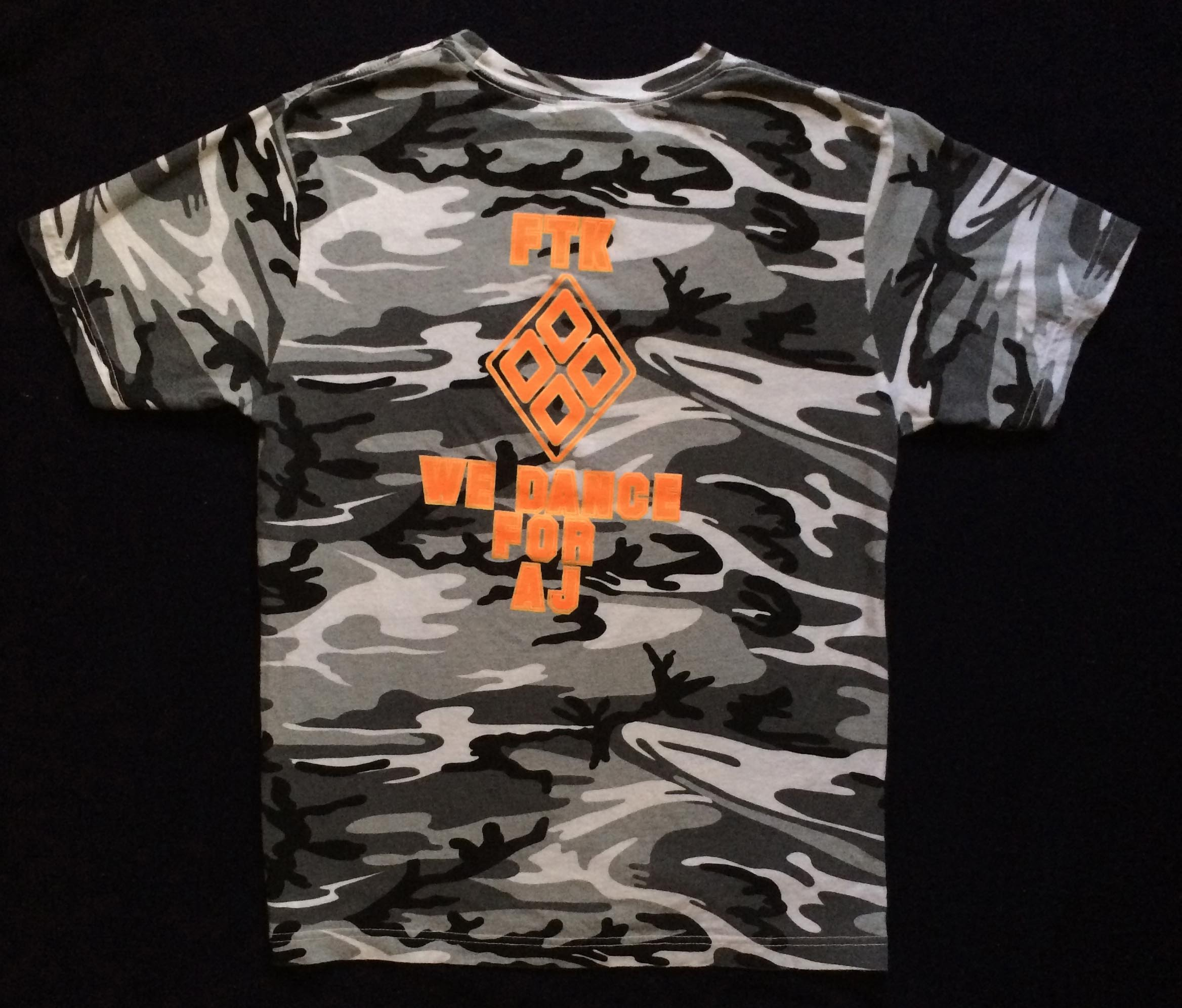2013 THON T-Shirt (Back) - Feb. 15, 2013 -Camo THON shirts were designed by Omega's THON child